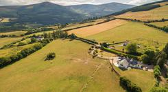 Glaskenny House (bottom right-hand corner) is set in rolling countryside near Enniskerry, with views of Sugarloaf and the Wicklow Mountains