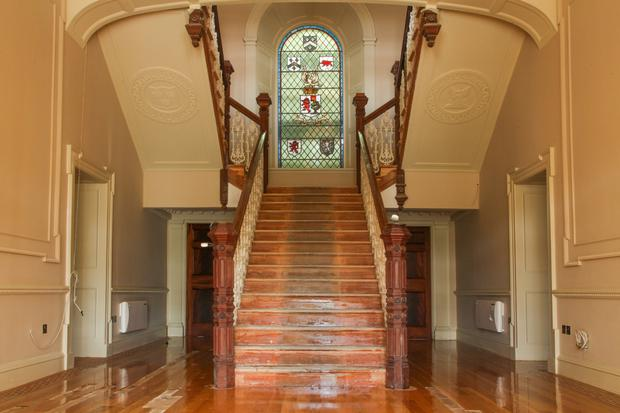 The grand central staircase at Eden Vale