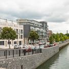 The four-storey houses at Fitzwilliam Quay are set on the River Dodder behind Ringsend village, and close to the tech hub of Grand Canal Dock.