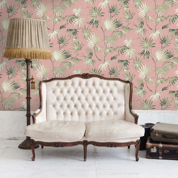 Some of Pearl's new range of wallpaper and fabric designs with bespoke company, Woodchip and Magnolia
