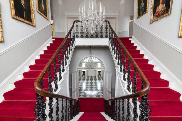 The bifurcated staircase, crystal chandeliers, high ceilings and window shutters at Harmony Hall in Co Westmeath are everything you'd expect in an 18th century manor house