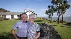 Dymphna Dunworth and Noel Dean at Carrigdraemor, Ballinacarrig, Brittas Bay, Co Wicklow
