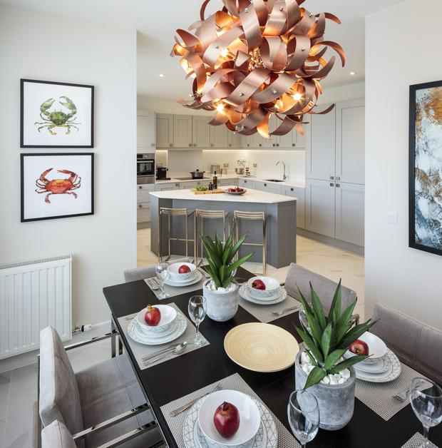 The kitchen and dining area of Hollybrook at Robswall