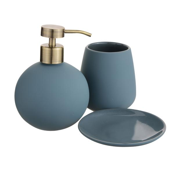 Bathroom set, €10: Teal is a soothing colour for any bathroom. Update your wash area with this set; debenhams.ie