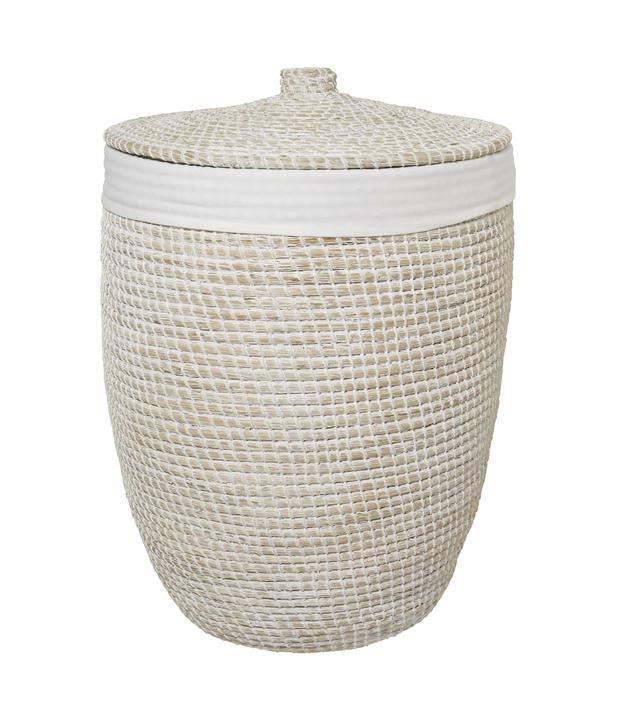 Alibaba laundry basket, €185: Beautiful storage in any bathroom is key. Smarten up with a laundry basket; thewhitecompany.com