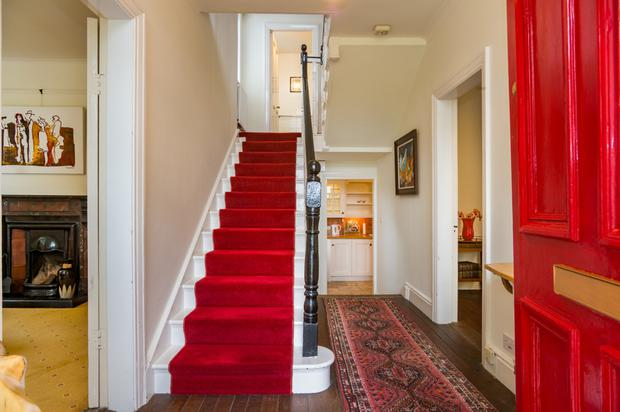 The entrance hallway and staircase