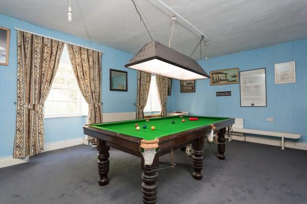 The Rectory's impressive snooker room