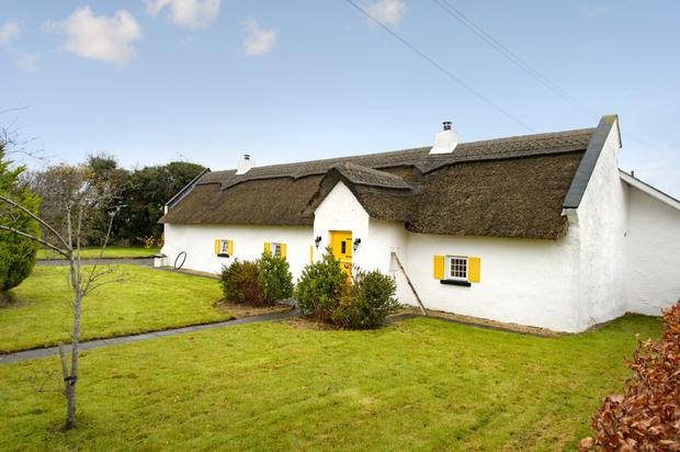 The cottage has a thatched roof which was redone in 2009