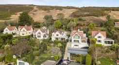 An aerial view of the house on Ryehill