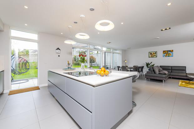 Olive Lodge has an open plan kitchen/dining/living space at its heart