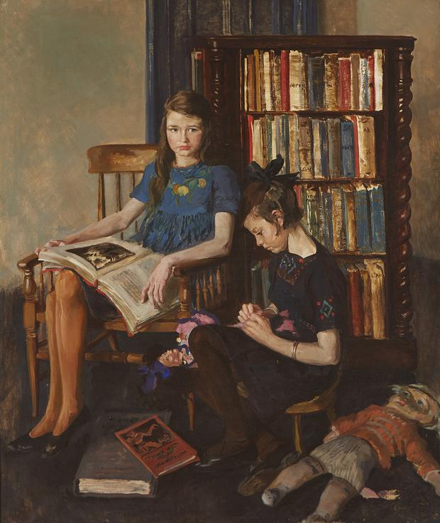 Mystery: It was not initially known Clarke painted Double Portrait of Two Girls