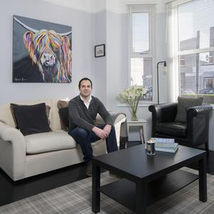 Colin Treacy has made many improvements to his property on Annesley Place