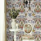 Pretty and decorative, this Transylvania Folk wallpaper, €150 per roll, is a perfect backdrop to a decorative home; mindthegap.com