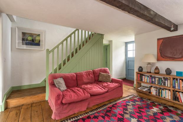 The living room of Bluebell Cottage