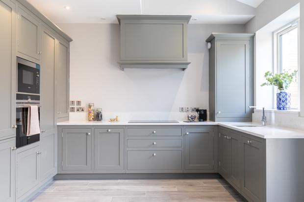 The hand-painted kitchen