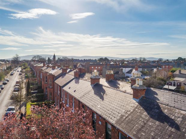 The view across the rooftops at Moyne Road