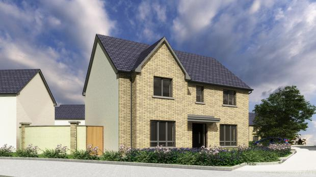 Full-brick facade: An artist's impression of one type of exterior at Semple Woods