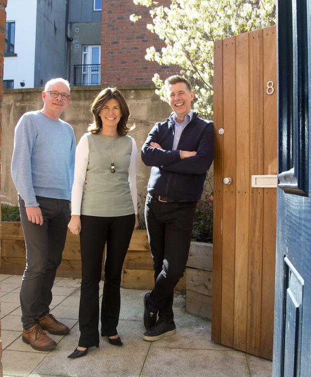 GOOD CAUSE: Paul Sheehan, national spokesperson for the Simon Community, Kathryn Meghan, CEO RIAI, and architect Dermot Bannon