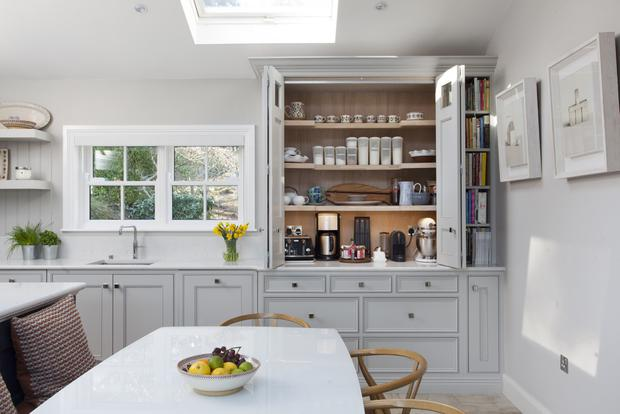 Noel Dempsey's Enniskerry kitchen is a modern classic which uses traditional design principles. €POA, noeldempsey.com