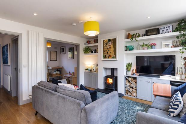 The open-plan living-room at 9 Gilbert Road