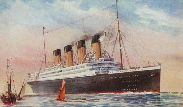 The ship which sank after being hit by a mine in the Aegean Sea in 1916