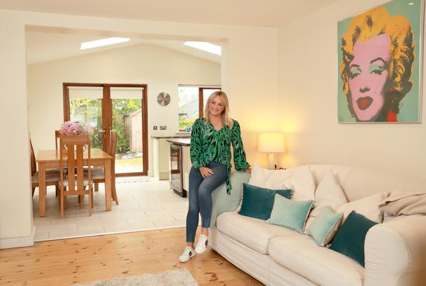 Sarah Kinsella in her house at St Luke's Cresent in Dundrum. Photo: Frank McGrath