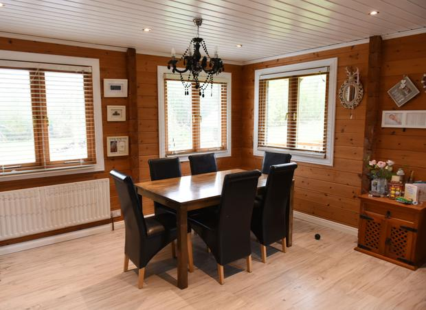The dual aspect dining room