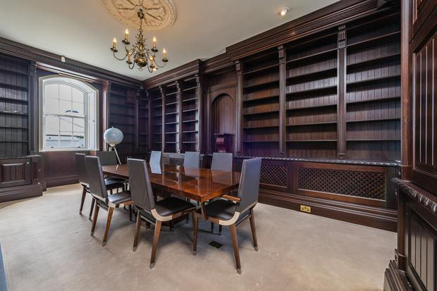 The study and library at the Old Convent and School House at Eyrecourt, which cost €150,000 in hardwood bespoke joinery