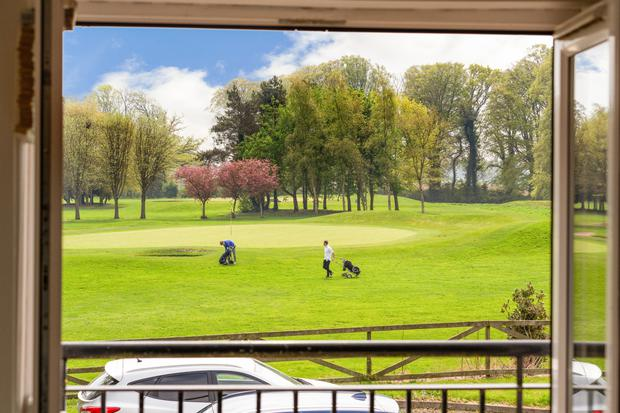 The 27-hole Corrstown parkland course is home to Ireland's only island green