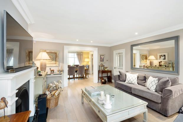 The living room and dining room are interlinkable spaces suited for entertaining on special occasions like Christmas and birthdays