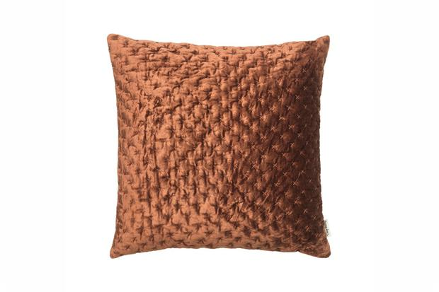 Cushion, €50. Add texture with the Velvet Lux Mahogany Cushion, at harveynorman.ie