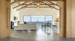 Open-plan living area with views of Skellig Michael