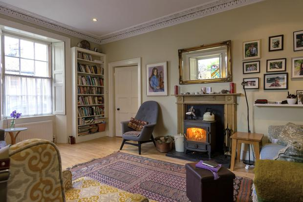 One of two reception rooms, both with sash windows and fireplaces, at Westview