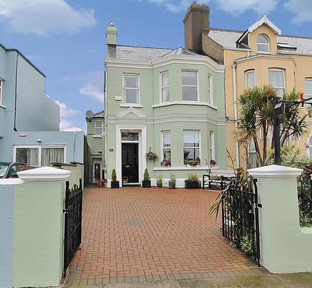 Mint green frontage