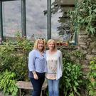 Bridget Rowling outside Rose Cottage with her sister Betty