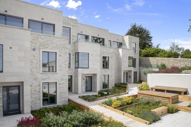 Cliffside terrace: The homes at Enderly are on an elevated site