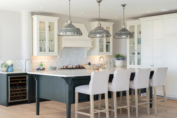 The open-plan kitchen and living area with its sea views is the nerve centre of the house