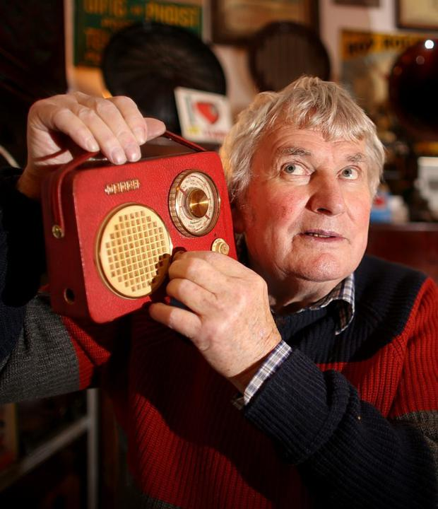 Sound man: Pat Herbert pictured in the Ye Olde Hurdy-Gurdy Museum of Vintage Radio in Howth