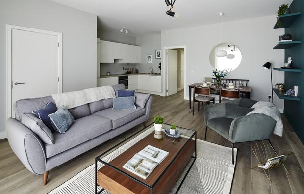 The living area in apartments