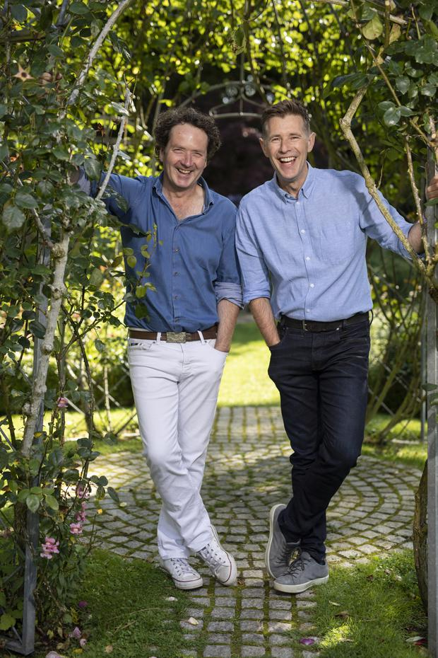 'Fully-fledged bromance going on': Dermot Bannon and Diarmuid Gavin. Photo: Fergal Phillips