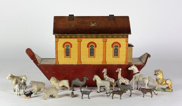 Boating accident: The rare Victorian Noah's Ark that novelist Charlotte Cory accidentally bought at auction could be worth up to €14,000