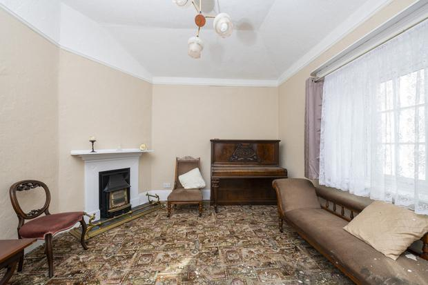 The living room of 61 York Road