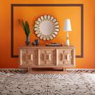 No one does big, splashy, extravagant mirrors quite like American designer Jonathan Adler. Petal mirror, around €1,295 from uk.jonathanadler.com