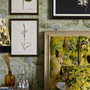 Mind the Gap, known for wallpaper, branches out with a new furniture and accessories collection, The Transylvanian Manor. Lampshade, from €180; Royal Garden velvet cushion, €149; Savage Leaves wallpaper, €150 for 3 rolls, all mindtheg.com