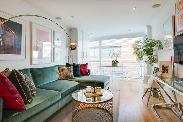 The living room of the Howth property