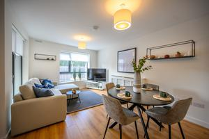 The interior of one of the apartments in the final phase