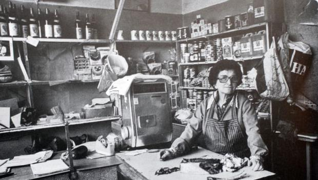 Baila Erlich, snapped in the 1980s in her D8 shop