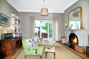 Living room at 5 Ballygihen Avenue, Sandycove, Co Dublin