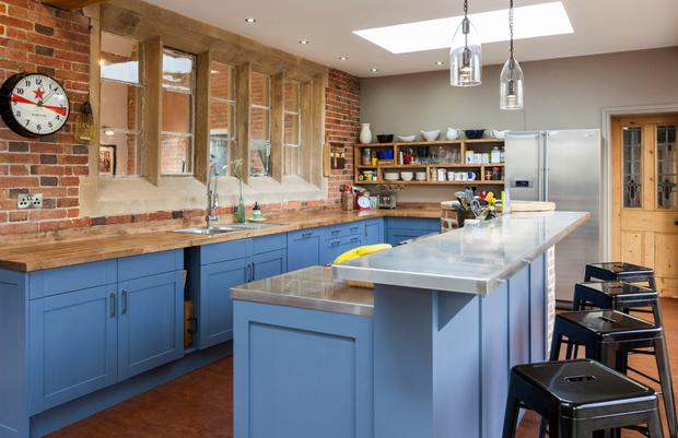 A stylish kitchen renovation in a Victorian schoolhouse from Houzz