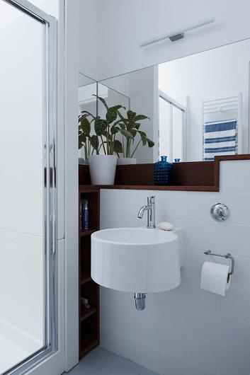 You can maximise space by choosing modestly sized toilets and washbasins.